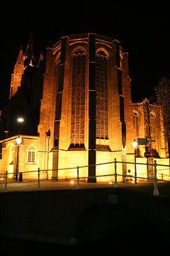 Oude kerk in Delft van Anouk Davidse