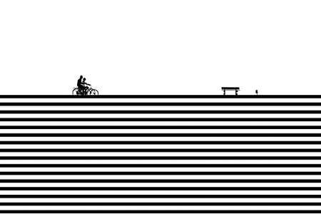 skylines ein sonniger Sonntag im Frühling.  von Frans van der Gaag