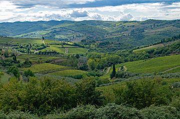 Rollende grüne Landschaft der Toskana, Italien von Discover Dutch Nature
