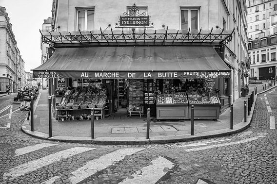 Montmartre in Parijs van Loek van de Loo