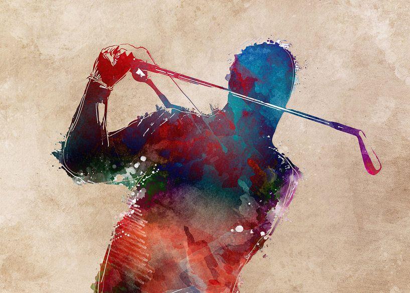 Golfspieler 5 Sport #Golf #Sport von JBJart Justyna Jaszke