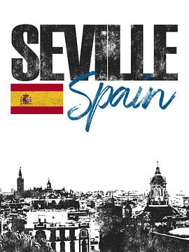 Sevilla Spanien von Printed Artings