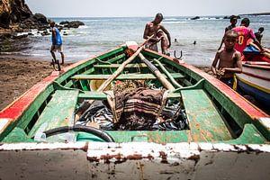 Afrikaanse vissersboot