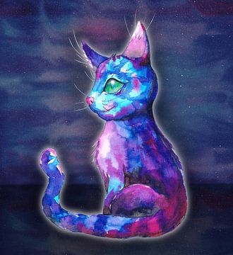 Weltraum-Katze von Bianca Wisseloo
