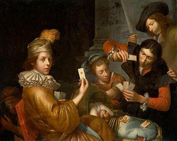 Das Kartenspiel an der Wiege, Johannes van Wijckersloot