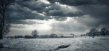 Winterlandschap Anstelvallei van Maurice Cobben