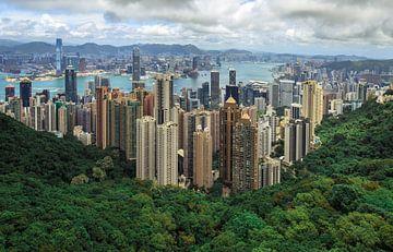 Hong Kong skyline van Claudio Duarte