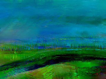 Landschaft in der Nacht von Claudia Gründler