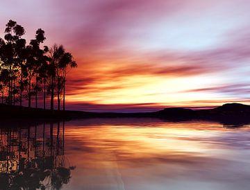 Tropische zonsondergang van Angel Estevez