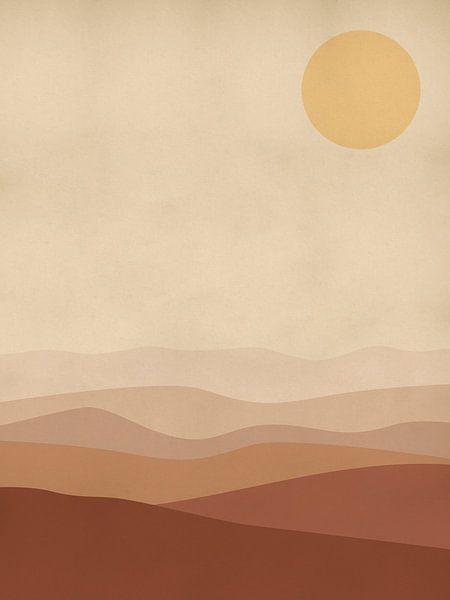 Burnt Orange Landschap van Michelle van Seters