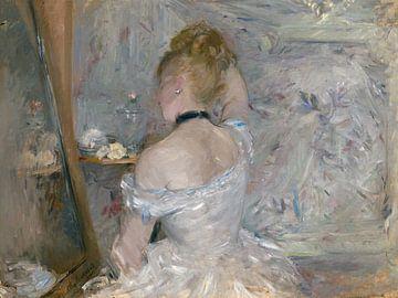Jeune femme de dos à sa toilette, Berthe Morisot sur