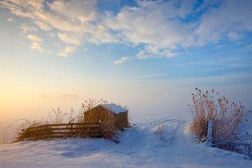 Winterlandschaft Niederlande von Peter Bolman