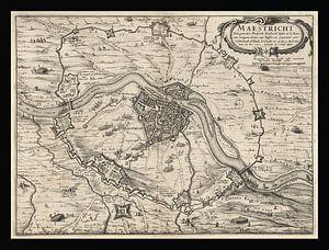 Oude kaart van Maastricht van omstreeks 1632 van Gert Hilbink