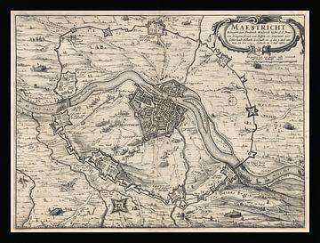 Alte Karte von Maastricht von etwa 1632 von Gert Hilbink