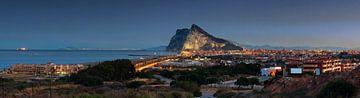 Gibraltar Panorama en La Linea de la Conception van Frank Herrmann