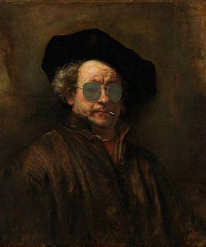Rembrandt met zonnebril en peuk