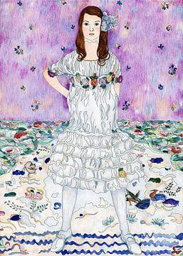 Porträt Mäda Primavesi, Gustav Klimt von Atelier Liesjes