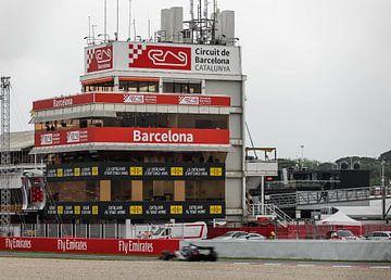Voiture de course au Circuito de Catalunya à Barcelone sur Robin Smeets