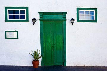 Vieille porte à Lanzarote sur Anja B. Schäfer