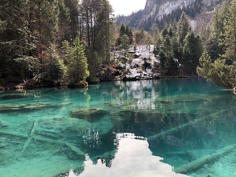 Blauw meer van Astrid Grüneisen