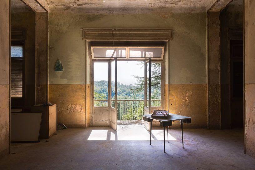 Auf der anderen Seite – Blick aus einem verlassenen Raum. von Roman Robroek