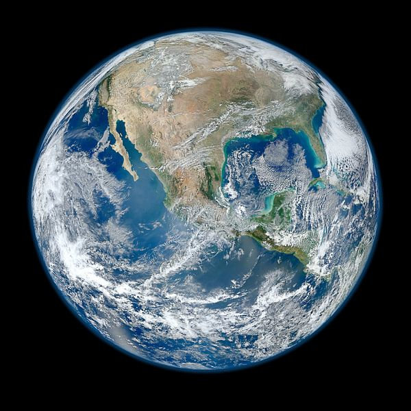 Blauwe knikker van Space and Earth