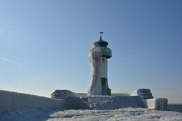 Leuchtturm am Kai in Sassnitz, Insel Rügen von GH Foto & Artdesign