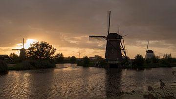 Sonnenuntergangs-Mühlen von Henriëtte Wanders