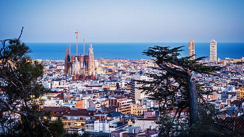 Barcelona - Skyline van Alexander Voss