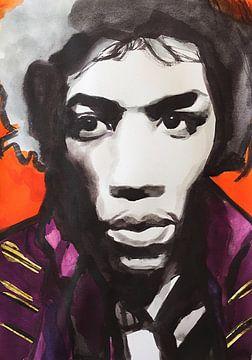 Jimi Hendrix von Helia Tayebi Art