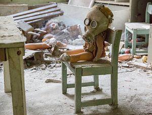 School in Pripjat, achtergelaten pop