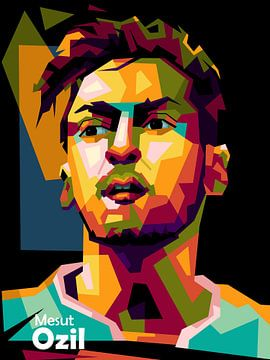 Mesut Ozil in WPAP ART van miru arts