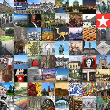 Alles van Maastricht - collage van typische beelden van de stad en historie van Roger VDB