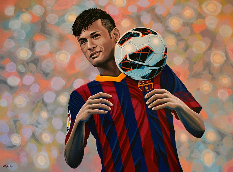 Neymar painting von Paul Meijering