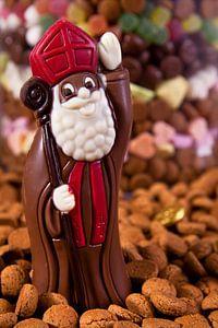 Sinterklaas van chocolade van