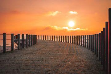 Zonsondergang Nijmegen van Nicky Kapel
