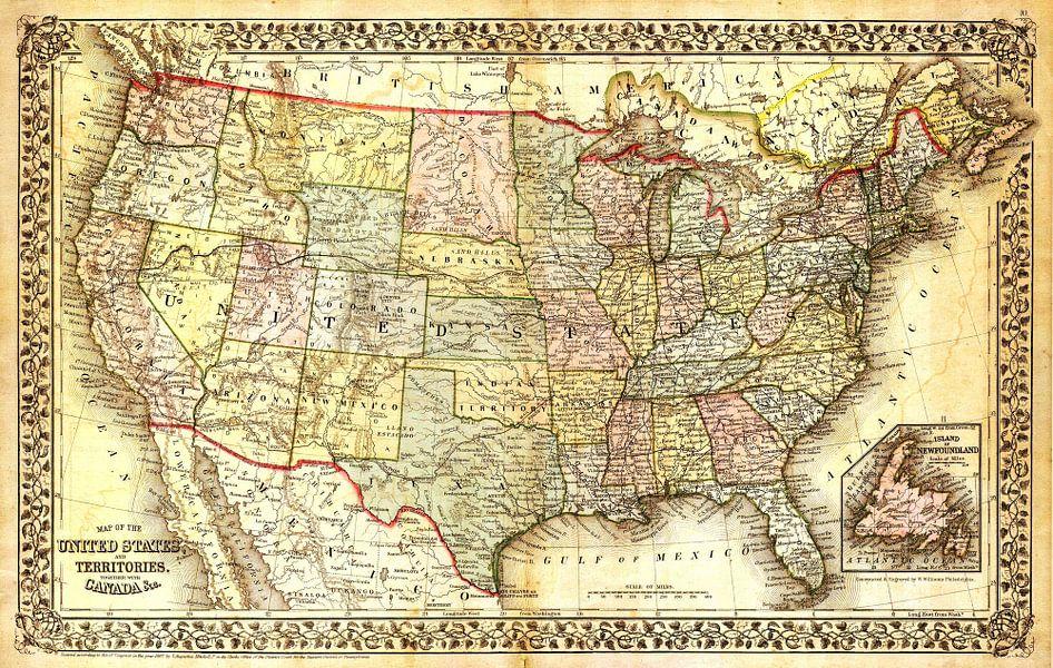 Antieke Wereldkaart van World Maps