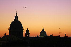 Rome at sunset van Inge Berken