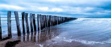 Cadzand - Stormy Beach van