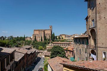 Die mittelalterliche Stadt Siena in der südlichen Toskana, Italien. von Tjeerd Kruse