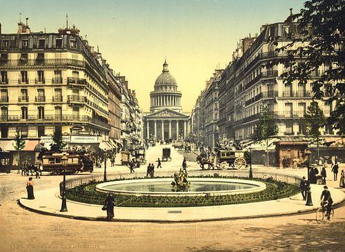 The Pantheon and the rue Soufflot, Paris van