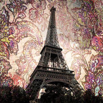 Eiffelturm in Paris mit Blumen von Christine aka stine1