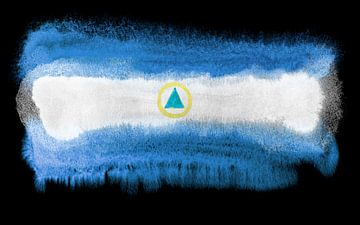 Symbolische nationale vlag van Nicaragua van Achim Prill