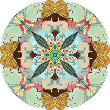 Dieren mandala, de Krekel. van Kirsten Jense Illustraties.