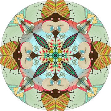 Tier-Mandala, die Grille. von Kirsten Jense Illustraties.