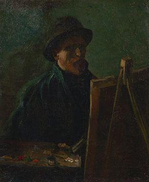 Selbstbildnis mit dunklem Filzhut an der Staffelei, Vincent van Gogh