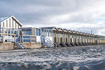 Strandhuisjes bij Wijk aan Zee van