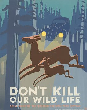 Tötet nicht unsere Wildtiere von Vintage Afbeeldingen
