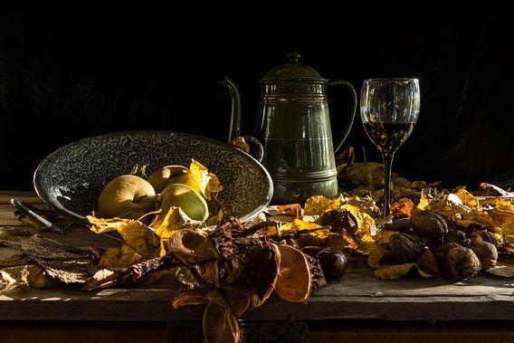 Herfststilleven met appels van Paul de Vos