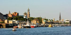 The St. Pauli Piers in the Port of Hamburg
